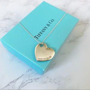 Tiffany & Co. Puff Heart Cutout Pendant Necklace